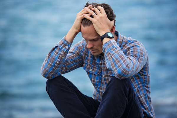 man stressed after a wrongful death