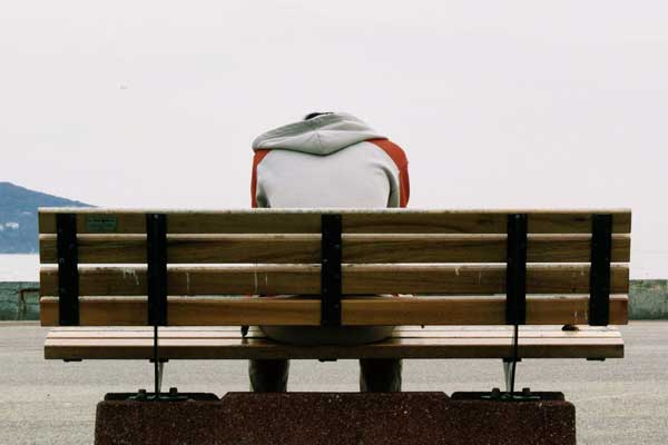 man on bench after a wrongful death